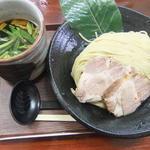 葉、薫るつけ麺しいたけ出汁(創作麺処 スタ☆アト)