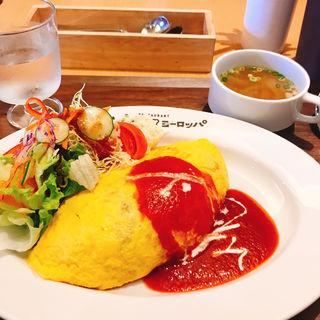 オムライス(サラダ、スープ付)(キッチンヨーロッパ)