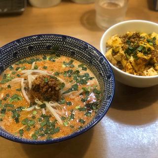 担担麺と魔婆丼(炎助)