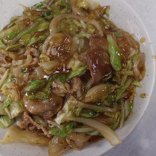 チャーメン(あんかけ焼麺)(北華飯店 東支店)