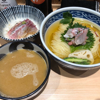 金目鯛のつけそば(金目鯛のご飯つき)(寿製麺よしかわ 西台駅前店)