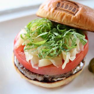 厚切りトマトとガリのハンバーガー(burger house GABURI)