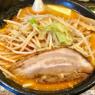 赤鬼野菜らーめん + バター(一蔵 (いちぞう))
