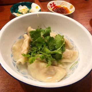 セロリとエビ味噌の水餃子(BDYエスニック)