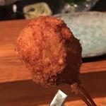 枝豆と白身魚のすり身(串揚げ)