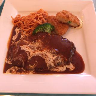 ジャンボハンバーグステーキ(250g)(レストランこはく )
