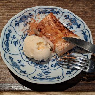 炭焼トーストとバニラアイス(やきとりの玉屋 )