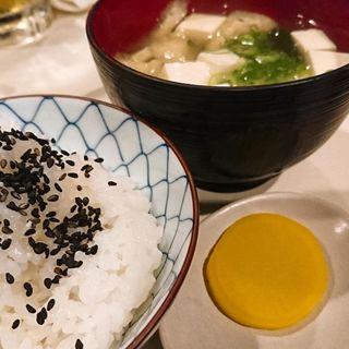 白ご飯、お味噌汁(焼肉ヒロ )