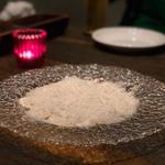 生ホワイトマッシュルームのスライス〜チーズと岩塩を散らして〜