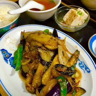ナス味噌炒め定食