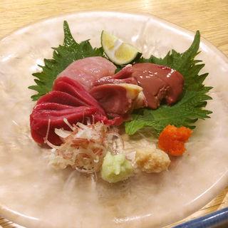 鶏刺身四種盛り合わせ(焼とり はま田)