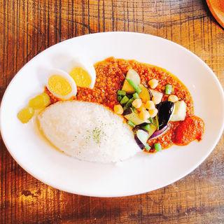 ひき肉と野菜のカレー (ビンダルウトッピング)(カドノ (KHADONO))