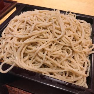 天ぷら盛り合わせとせいろ(蕎麦六本 )