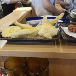 穴子1本揚定食(天ぷらとワイン小島2号店)
