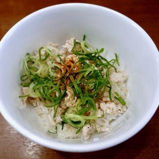 ねぎ塩チャーシュー丼(RAMEN 風見鶏 阿倍野 (ラーメンカザミドリ))