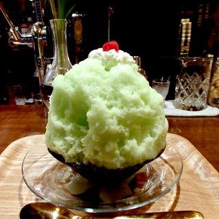 クリームメロンソルベ(かき氷みしょう)