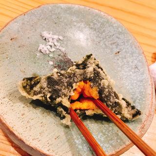 雲丹(博多天ぷら ながおか)