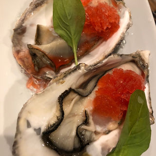 生牡蠣のカンパリのグラニテ添え