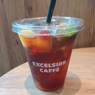 食べるフルーツティ ゼリーinアイスティ(エクセルシオールカフェ 五反田TOC店 (EXCELSIOR CAFFE))