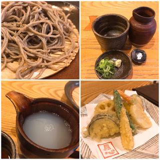 野菜天せいろ(玄挽蕎麦)(蕎や 月心 (つきごころ))