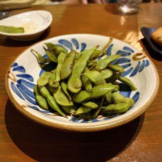 塩茹で県産茶豆(旬菜処びいどろ)