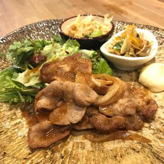 生姜焼き定食(土鍋ごはん 米三 西麻布店)
