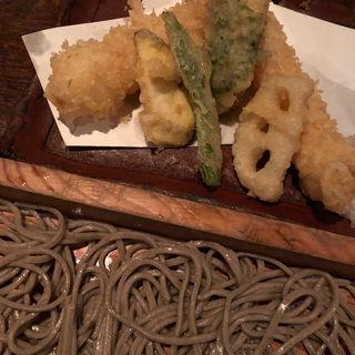 天ぷらそば切り(板蕎麦 山灯香)