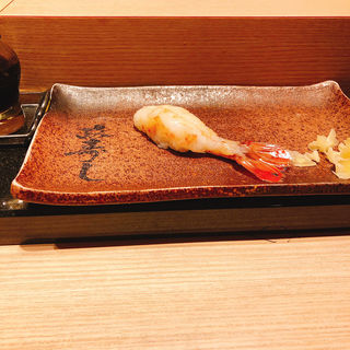 ぼたんえびの握り(おたる政寿司 新宿店 )