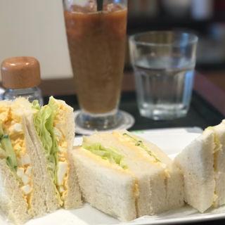 セットメニュー(タマゴサンド/アイスコーヒー)(テイステイカフェ)