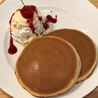 フルーツクリームホットケーキ(ホットケーキパーラー フルフル 赤坂店 (Fru-Full))
