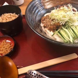 揚げナスと肉味噌のピリ辛冷しうどん定食(杵屋 伊勢イオンララパーク店 )