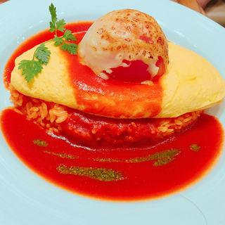 焼きトマト焼きチーズのトマトソースバジリコ風味