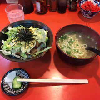 とろ軟骨ソーキ丼+ミニそば(護佐丸 (ごさまる))