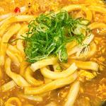 鶏卵カレーうどん(極楽うどん Ah-麺)