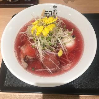 紅の煮干しラーメン(中華そば福味 東京駅KITTE店)