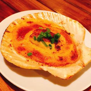 ホタテのウニソース焼き(御徒町ワイン食堂パパン)