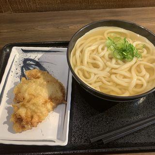かけうどん+チキ天(松井製麺所)