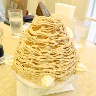 天然氷 雪の菓 モンブランかき氷(マールブランシュ 北山本店 )