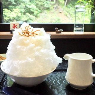 甘酒のかき氷(奥山の癒し処 風緑 )