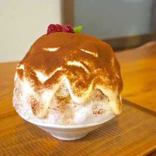 ティラミスかき氷(氷茶屋 百笑)