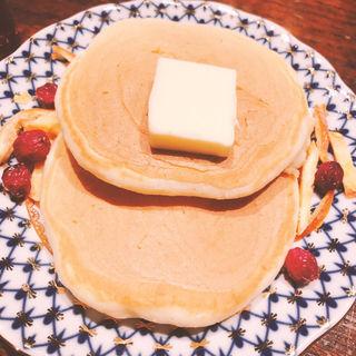 バーボンバレルシロップのホットケーキ(BAR 十誡)