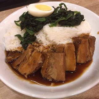 角煮飯(大盛り)(餃子製造販売店 上野 いち五郎)