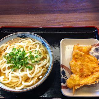 かけうどん+とり天(さぬき麺市場 郷東店 )