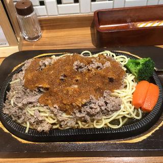 ビーフバター焼きL パスタ・肉増量(グルメ風月)