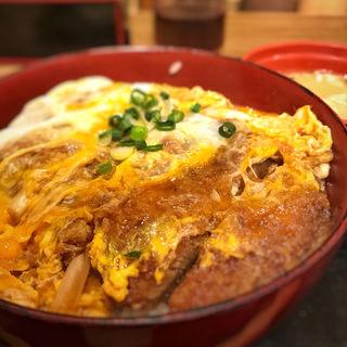 ジャンボかつ丼セット(牛心)