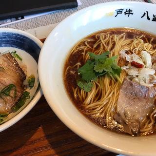 神戸牛らーめん 醤油(玉子かけセット)(神戸牛らーめん 八坐和 NEXT)