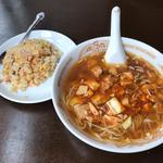 麻婆麺+半チャーハン