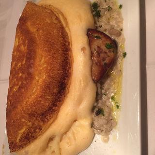 キノコと押し麦のクリームリゾット フォアグラのポワレ(ミラキュルーズカフェ )