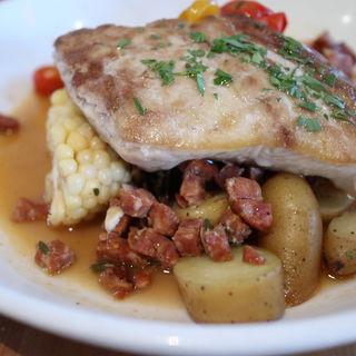 白身魚とベーコンのソテー(fete)