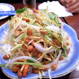 三丝爆豆(じゃがいもと玉葱とこうさい和え)(アリヤ 清真美食 池袋店)